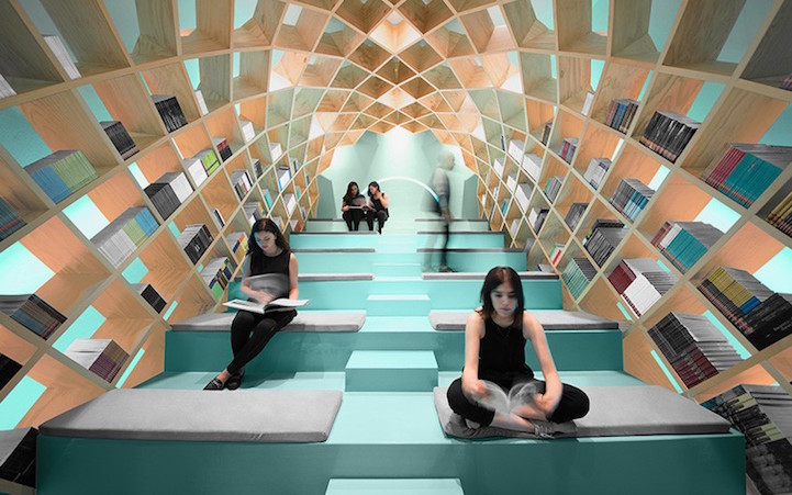 Room to read in a digital world 14 modern library designs for Best home library designs