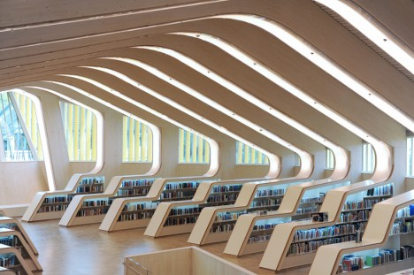 Interior Digital Room Designer room to read in a digital world 14 modern library designs urbanist libraries vennesla 2