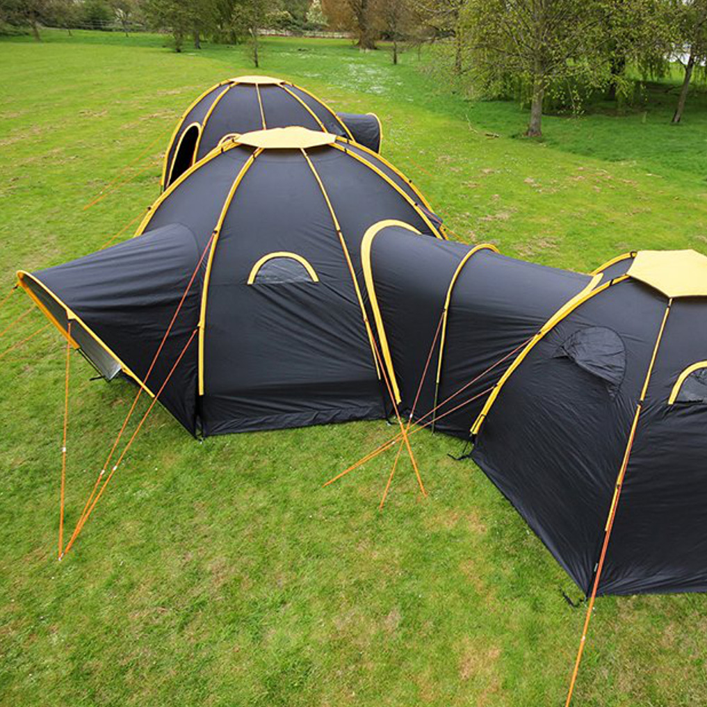 Modular Camping: Flexible Pod Tents Connect & Subdivide