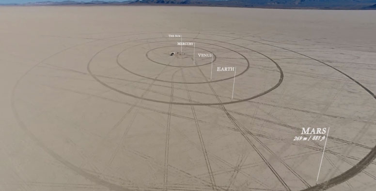 orbital paths desert