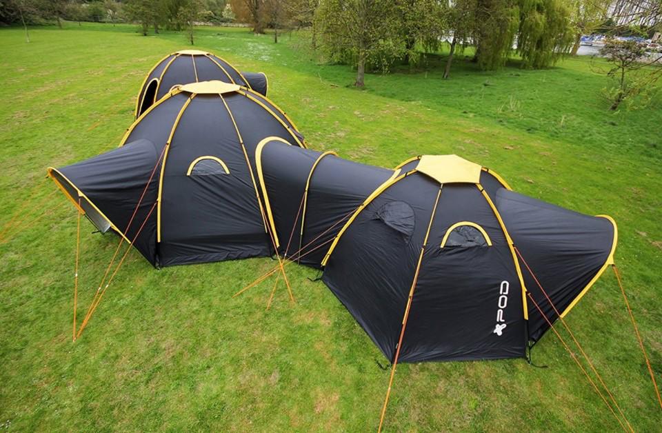 Modular Camping: Flexible Pod Tents Connect & Subdivide ...