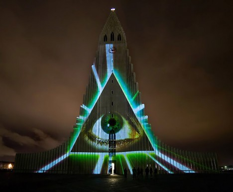 projection mapping iceland