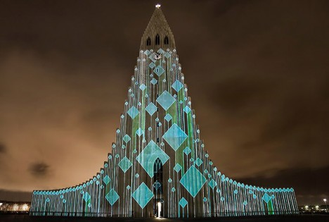 projection mapping iceland 2