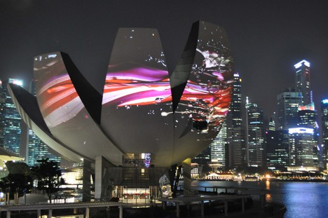 projection mapping singapore 1