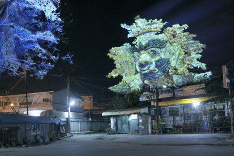 Projection Mapping Face Projection Mapping Trees 2