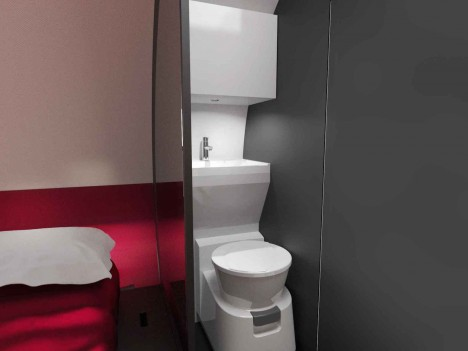 telescoping toilet system