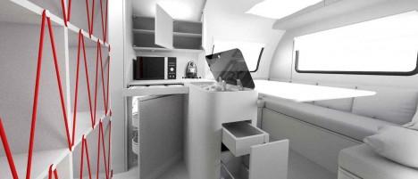 trailer work space
