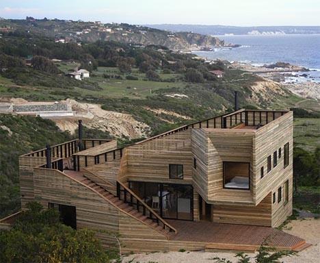 wooden architecture hillside home 1