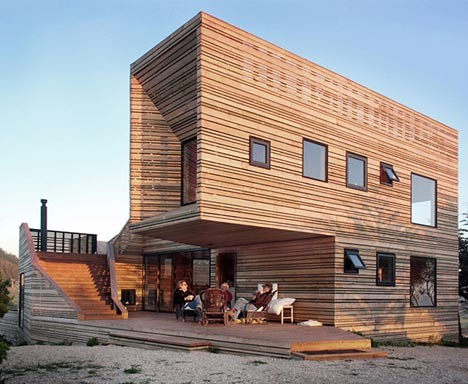wooden architecture hillside home 2