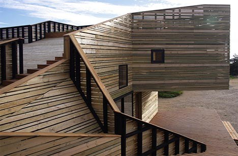 wooden architecture hillside home 3