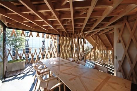 wooden architecture lattice 3