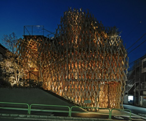 wooden architecture lattice 4