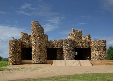 wooden architecture selpo pavilion