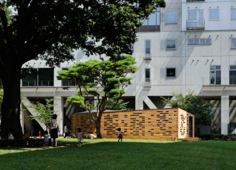 wooden architecture space lab 2