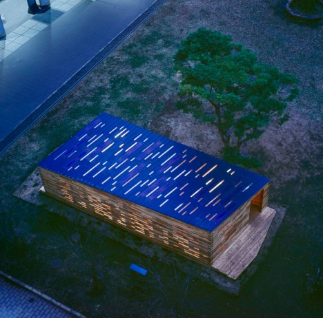wooden architecture space lab 4