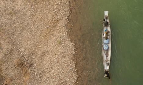 bomb boat riverfront