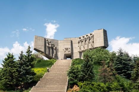 brutalist bulgarian monument