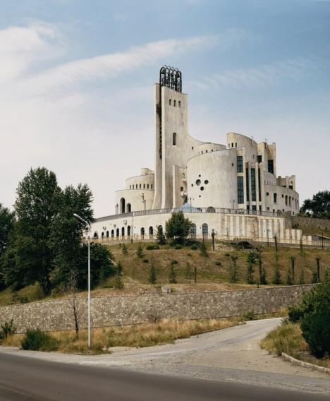 brutalist palace of ceremonies