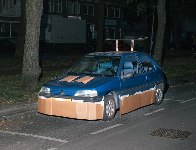 cardboard customized car 1