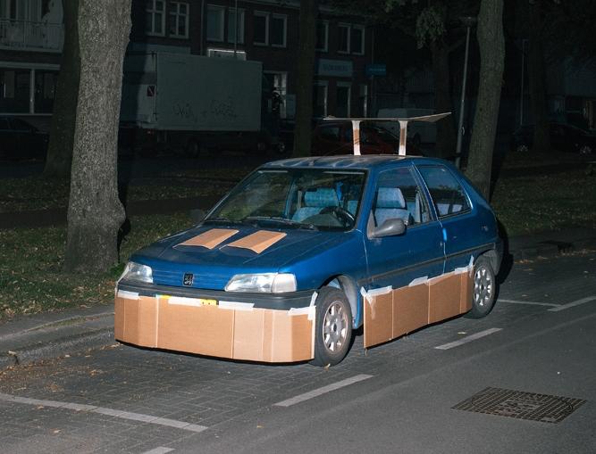 cardboard customized car 1