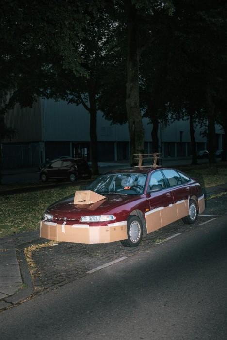 customized cardboard car 2