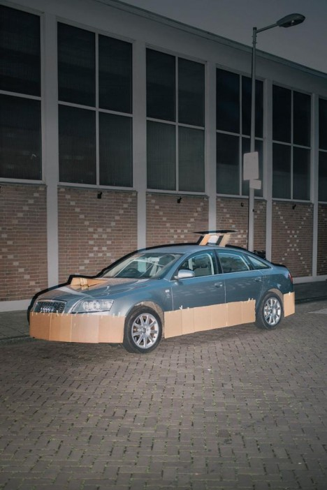 customized cardboard car 3