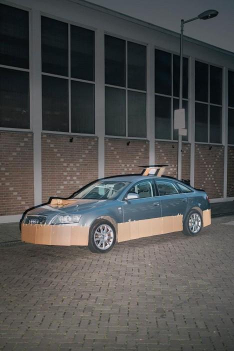 customized cardboard car 3