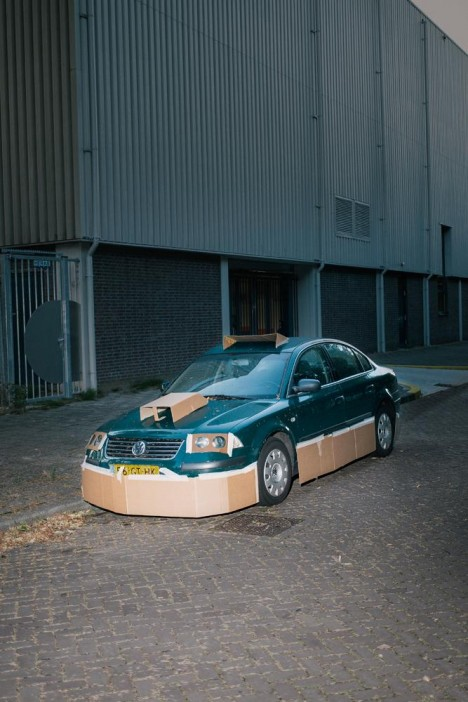 customized cardboard car 5