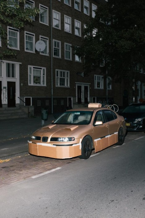 customized cardboard car 6