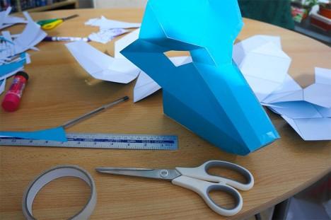 diy maskmaking process