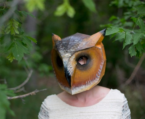 diy owl mask