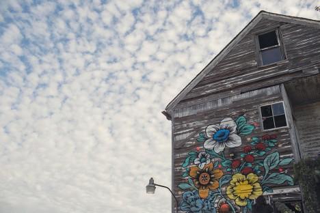floral home exterior