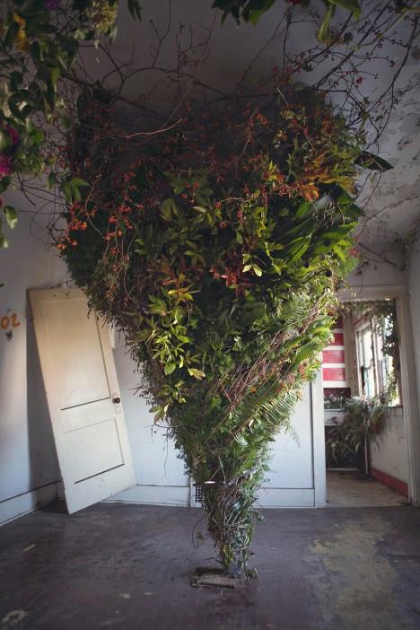 floral room spiral design