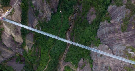 glass bridge above