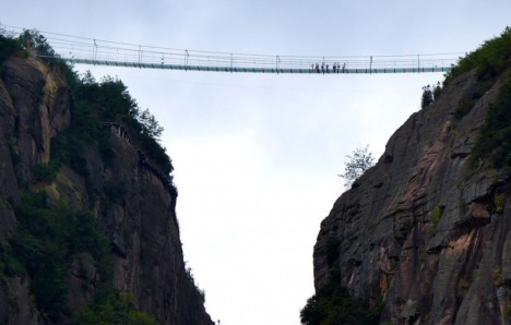 glass bridge side
