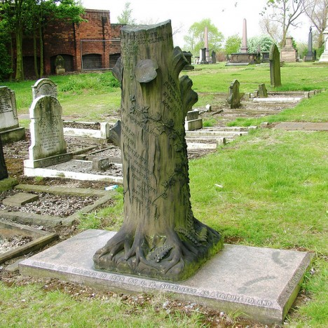grave symbolism tree stump 1