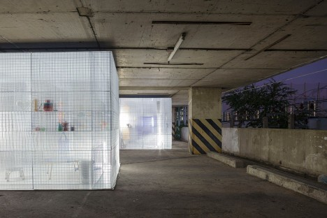 modular parking lot structure