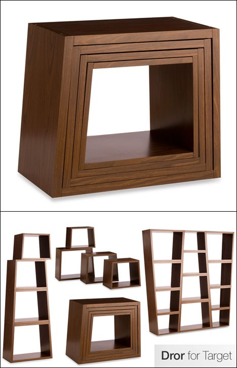 nesting stackable bookcase