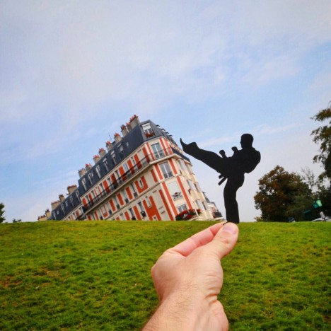 Instagrammer transforms famous landmarks using paper cut-outs