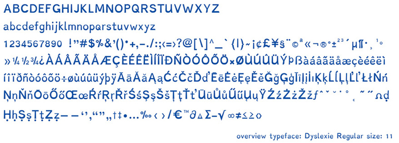 dyslexic typeface