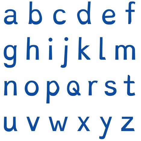 dyslexie bold letters bottoms