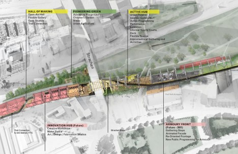 elevated highway underneath park