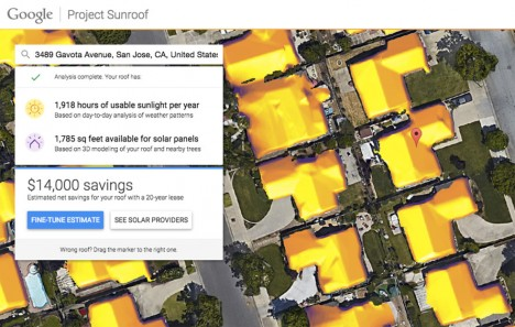 google solar savings calculation
