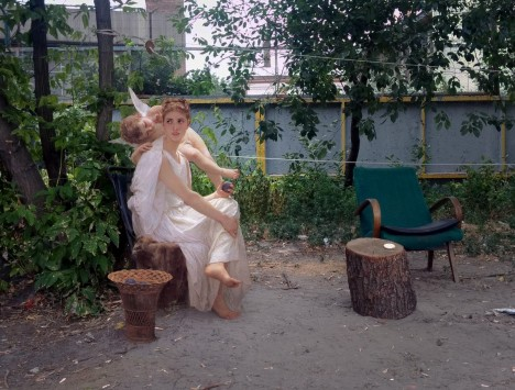 historical park cherub sitting