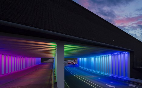 light art rainbow tunnels 1