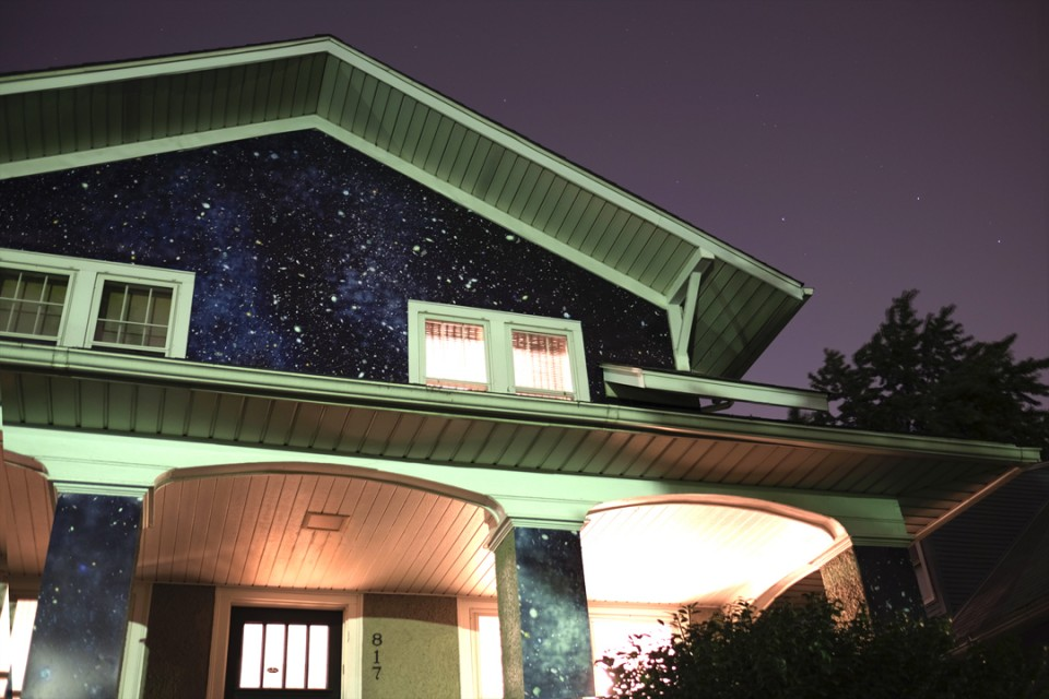 night house looking up