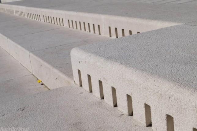 sea organ white steps