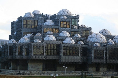 ugly architecture national library kosovo 2