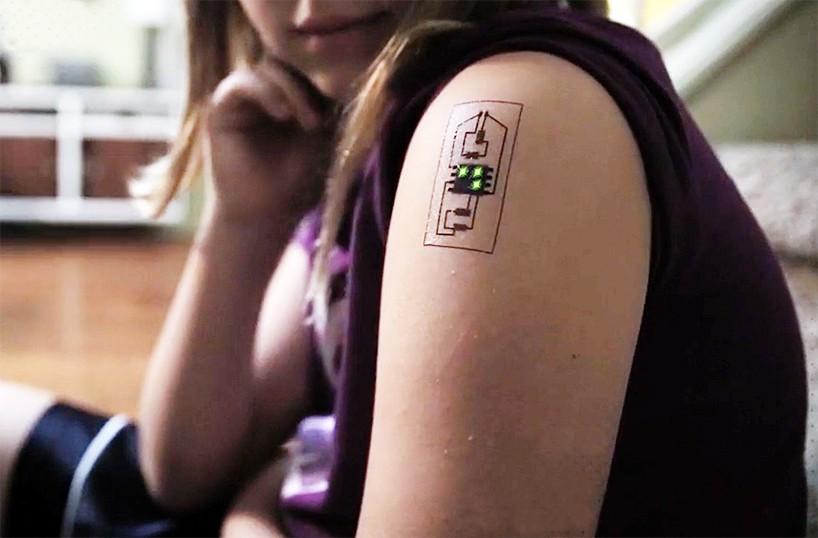 wearable circuit board tattoo