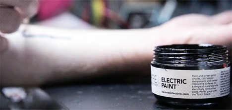 wearable electric ink paint